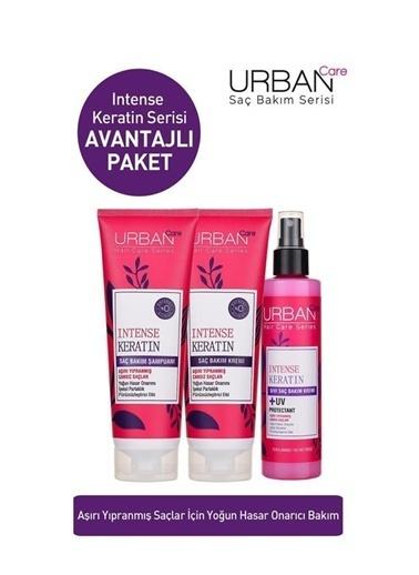 Urban Care Urban Care Intense Keratin Şampuan+Saç Kremi+Saç Bakım Spreyi Renksiz